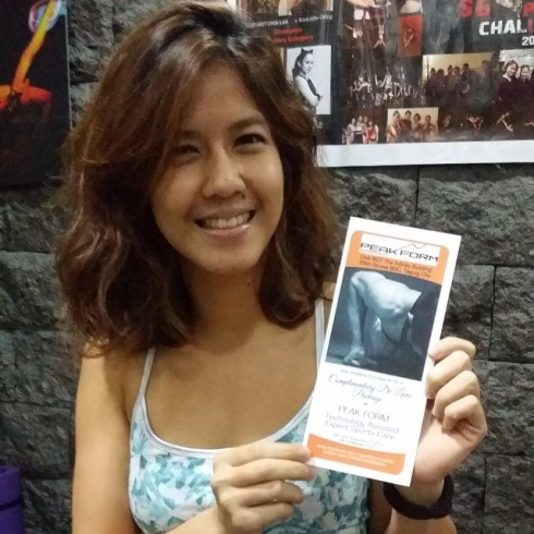 Congratulations Cheska for winning best costume! She won a complimentary deluxe package c/o our friends at Peak Form Manila
