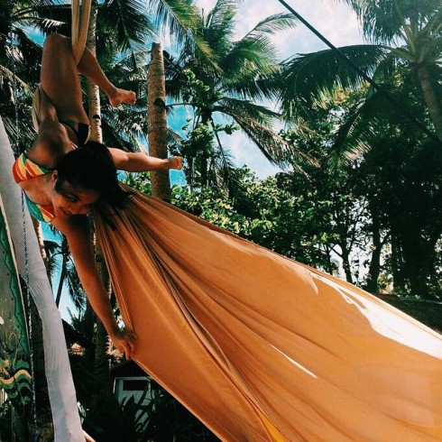 Some holiday sun! Kayleen Ortiz performed at the Greenyard Kite School in Boracay