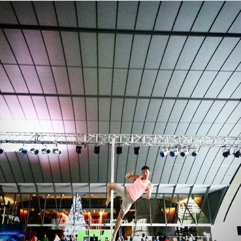 Miko Ignacio's first solo gig at the 2nd Avenue's #YuleDance2014  in Ayala Triangle Gardens.